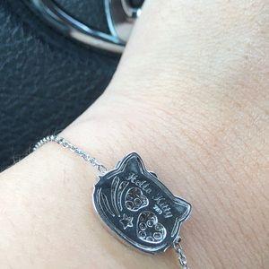 be858ce1f Jewelry | 18k White Gold Diamond Hello Kitty Bracelet | Poshmark